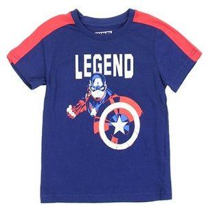 Captain America Navy 'Legend' Tee